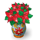 Vase of Poinsettias