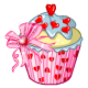Enchanting Heart Cupcake