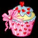 Enchanting Heart Cupcake