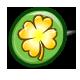 Golden Clover Button